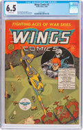 Golden Age (1938-1955):War, Wings Comics #2 (Fiction House, 1940) CGC FN+ 6.5 Off-whitepages....