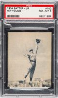 Baseball Cards:Singles (1930-1939), 1934-36 Batter-Up Pep Young #102 PSA NM-MT 8 - Pop One, On...