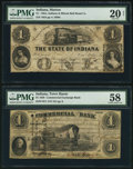 Obsoletes By State:Indiana, Marion, IN- Ohio, Indiana & Illinois Rail Road Company $1 Jan.(?) 26, 1855;. Terre Haute, IN- Commercial Exchange Bank $... (Total: 2 notes)