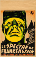 "Movie Posters:Horror, The Ghost of Frankenstein (Universal, 1942). Belgian (10.75"" X 17"") Capry Artwork.. ..."