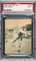 Baseball Cards:Singles (1930-1939), 1934-36 Batter-Up Paul Dean #143 PSA NM 7.  Dark g...