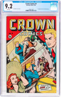 Golden Age (1938-1955):Miscellaneous, Crown Comics #4 (McCombs, 1945) CGC NM- 9.2 White pages....