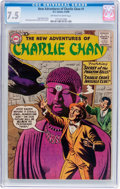 Silver Age (1956-1969):Mystery, The New Adventures of Charlie Chan #1 (DC, 1958) CGC VF- 7.5Off-white to white pages....