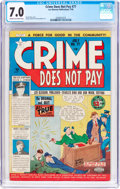 Golden Age (1938-1955):Crime, Crime Does Not Pay #77 (Lev Gleason, 1949) CGC FN/VF 7.0 Cream to off-white pages....