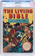 Golden Age (1938-1955):Religious, Living Bible #1 (Living Bible Corp., 1945) CGC VG/FN 5.0 Cream tooff-white pages....