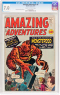 Silver Age (1956-1969):Horror, Amazing Adventures #5 (Marvel, 1961) CGC FN/VF 7.0 Cream tooff-white pages....