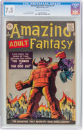 Silver Age (1956-1969):Science Fiction, Amazing Adult Fantasy #9 (Marvel, 1962) CGC VF- 7.5 Cream tooff-white pages....