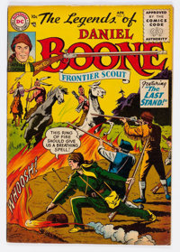 Legends of Daniel Boone #5 (DC, 1956) Condition: FN