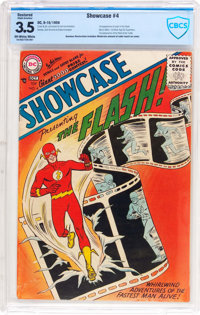 Showcase #4 The Flash (DC, 1956) CBCS Apparent VG- 3.5 Slight (A) Off-white to white pages