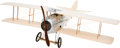 """Luxury Accessories:Home, Louis Vuitton Natural Silk Mousseline, Hardwood & AluminumModel Airplane. Condition: 2. 29.5"""" Widt..."""