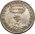 "Chile, Chile: Republic ""Centered Y"" Volcano Peso 1817-SANTIAGO AU - MountRemoved, Repaired,..."