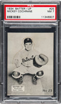 Baseball Cards:Singles (1930-1939), 1934-36 Batter-Up Mickey Cochrane #25 PSA NM 7 - Only Two Higher....