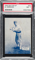 Baseball Cards:Singles (1930-1939), 1934-36 Batter-Up Al Simmons #34 PSA NM 7 - 7 Three Higher...