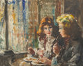 Fine Art - Painting, American:Contemporary   (1950 to present)  , Fried Pal (Hungarian/American, 1893-1976). Cocktails forTwo. Oil on canvas board. 23 x 29 inches (35.5 x 21.6 cm)(sigh...