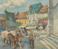 Fine Art - Painting, American:Contemporary   (1950 to present)  , Fried Pal (Hungarian/American, 1893-1976). Visiting theVillage. Oil on canvas. 24 x 29 inches (60.9 x 73.6 cm)(sight)...