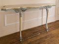 Furniture , A Louis XVI-Style Paint Decorated Console Table, mid-20th century. 43 h x 93 w x 20 d inches (109.2 x 236.2 x 50.8 cm). ...