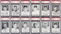 Baseball Cards:Singles (1960-1969), 1960 Leaf Baseball PSA Mint 9 Collection (26 Different). . ...