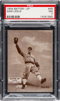 Baseball Cards:Singles (1930-1939), 1934-36 Batter-Up Sam Leslie #46 PSA NM 7 - Onl...