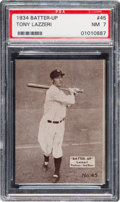 Baseball Cards:Singles (1930-1939), 1934-36 Batter-Up Tony Lazzeri #45 PSA NM 7 - Only One Hig...