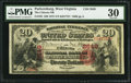 National Bank Notes:West Virginia, Parkersburg, WV - $20 1875 Fr. 435 The Citizens NB Ch. # 2649. ...