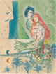 After Marc Chagall By Charles Sorlier Sirène au Poète, 1967 Lithograph in colors on Arches paper, with ful...