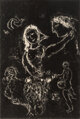 Marc Chagall (1887-1985) Blanc sur noir, 1972 Lithograph on Arches paper 22 x 14-7/8 inches (55.9 x 37.8 cm) (image)...