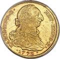 Colombia, Colombia: Charles III gold 4 Escudos 1773-P JS AU53 PCGS,...