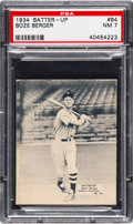 Baseball Cards:Singles (1930-1939), 1934-36 Batter-Up Boze Berger #84 PSA NM 7.  Dark ...