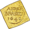 Brazil, Brazil: Pernambuco. Geoctroyeede West-Indische Compagnie (GWC) goldKlippe 6 Guilders (Florins) 1646 MS63 NGC,...