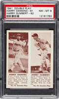 Baseball Cards:Singles (1940-1949), 1941 Double Play Danning/Gumbert #91/92 PSA NM-MT 8 - None Higher. ...