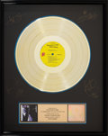 Music Memorabilia:Awards, Rolling Stones Sticky Fingers RIAA Hologram Gold Sales AwardPresented to the Artist (Rolling Stones COC 59100, 19...
