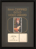 Music Memorabilia:Awards, Stevie Ray Vaughan Live from Austin, Texas RIAA Gold SalesAward (Epic Music Video 19V 50130, 1995)....