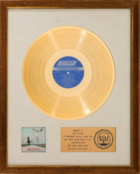 Rolling Stones Get Yer Ya-Ya's Out! RIAA White Matte Gold Record Award Presented to Mick Jag