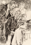 Mainstream Illustration, James Montgomery Flagg (American, 1877-1960). Lest They Forget,Mr. Bingle interior book illustration, 1915. Ink on boar...