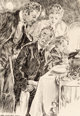 James Montgomery Flagg (American, 1877-1960) Lest They Forget, Mr. Bingle interior book illustration, 1915 Ink on boar...