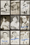 Autographs:Post Cards, Hall of Fame Signed Postcard Lot of 9. . ...