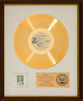 Music Memorabilia:Awards, Eric Clapton History of Eric Clapton RIAA White Matte GoldRecord Sales Award (Atco SD 2-803, 1972)....