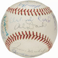 Autographs:Baseballs, 1963 San Francisco Giants Team Signed Baseball - with Mays,Marichal, and Cepeda (24 Signatures).. ...