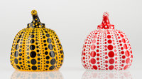 Yayoi Kusama (b. 1929) Red and Yellow Pumpkin (two works), 2013 Painted cast resin, each 4 x 3-1/