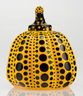Fine Art - Sculpture, American:Contemporary (1950 to present), Yayoi Kusama (b. 1929). Pumpkin (Yellow), 2013. Painted castresin. 4 x 3-1/4 x 3-1/4 inches (10.2 x 8.3 x 8.3 cm). Stam...