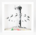 Prints & Multiples, Banksy (b. 1974) . Walled Off Hotel Box, 2017. Lithograph with concrete. 10 x 10 x 2 inches (25.4 x 25.4 x 5.1 cm) (box)...