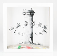 Banksy (b. 1974) Walled Off Hotel Box, 2017 Lithograph with concrete 10 x 10 x 2 inches (25.4 x