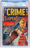 Golden Age (1938-1955):Crime, Crime SuspenStories #17 (EC, 1953) CGC VF 8.0 Cream to off-white pages....