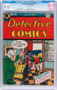 Detective Comics #112 (DC, 1946) CGC VF/NM 9.0 White pages