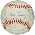 Autographs:Baseballs, 1963 Chicago White Sox Team Signed Baseball with Nellie Fox (29Signatures). . ...