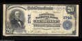 National Bank Notes:Colorado, Leadville, CO - $20 1902 Plain Back Fr. 652 The Carbonate NB Ch. #3746 Large notes only from this by no means common b...