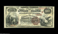 National Bank Notes:District of Columbia, Georgetown, DC - $10 1882 Brown Back Fr. 485 The Farmers & Mechanics NB Ch. # (E)1928 A tough early type from any Distr...