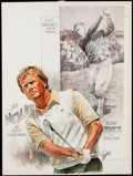 Golf Collectibles:Art, Jack Nicklaus & Bobby Jones Original Artwork by Mike Petronella.. ...