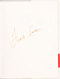 """Movie/TV Memorabilia:Autographs and Signed Items, A Frank Sinatra Signed Book """"A Man and His Art: Frank Sinatra,"""" 1991...."""