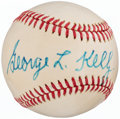 "Autographs:Baseballs, 1970's George ""High Pockets"" Kelly Single Signed Baseball...."